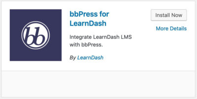 bbPress LearnDash integration plugin card