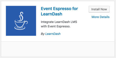 Event Espresso LearnDash integration plugin card