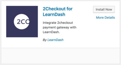 LearnDash 2Checkout plugin card