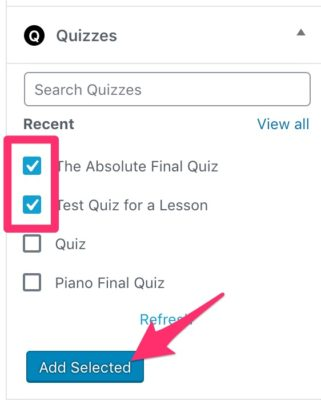 Add multiple quizzes in LearnDash course builder