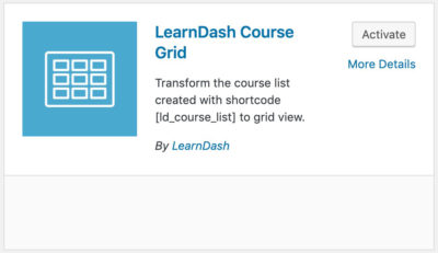 LearnDash Course Grid plugin card
