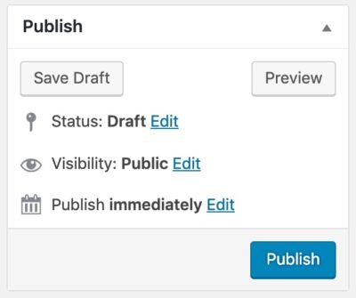 """WordPress """"Publish"""" metabox"""