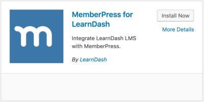 LearnDash MemberPress integration plugin card