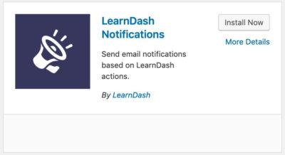 LearnDash Notifications add-on