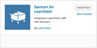 LearnDash SamCart integration plugin
