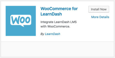 WooCommerce for LearnDash plugin card