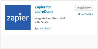 LearnDash Zapier add-on plugin card