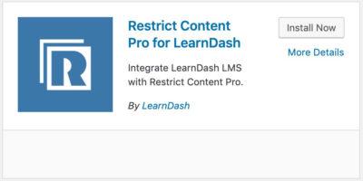 Restrict Content Pro LearnDash plugin card