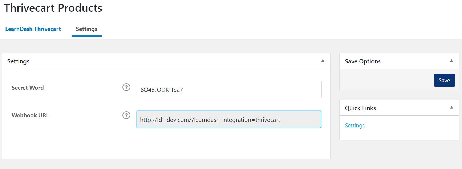 Add Secret Word from ThriveCart to WordPress