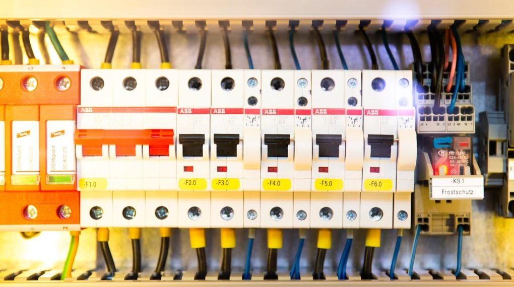 electrical box with circuit breakers
