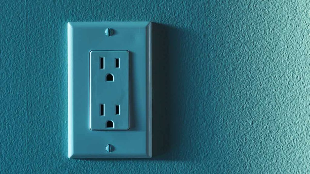 blue outlet on a gradient background